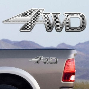 4x4 Decals Full Color TDG004 4wd Flag Silver