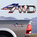4x4 Decals Full Color TDG004 4wd US Flag