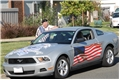USA Flag Partial Side Wrap Graphic