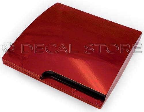 Red Chrome PS3 Slim Skin