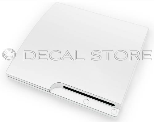 Ceramic White PS3 Slim Skin