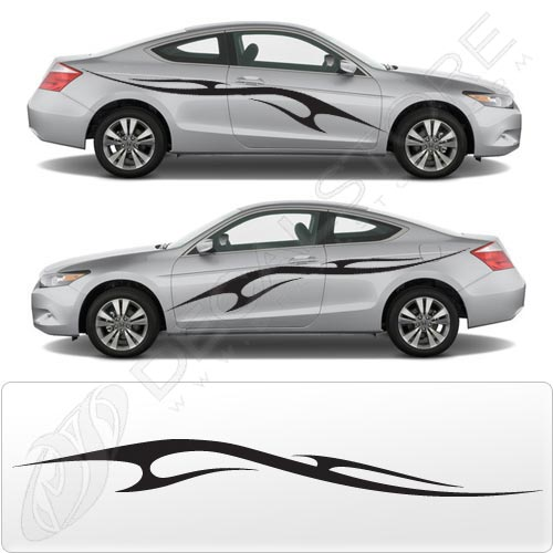 Car Decal Sticker Automotive Stripe Kit For The Side Doors Decal - Graphics for the side of a car