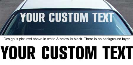 Rubrica Font Windshield Decal with Custom Text