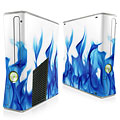 Blue Flames 1 Xbox 360 Slim Skin