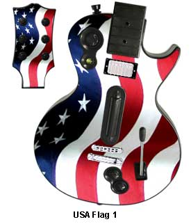 Guitar Hero 3 Les Paul skin - USA Flag 1