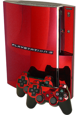 Red Chrome PS3 Skin