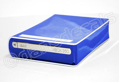 Blue Chrome HD DVD Drive Skin for Xbox 360