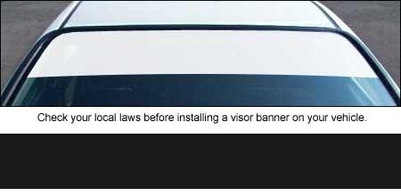 Banner Blank Windshield Visor Strips