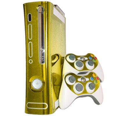 gold mirror xbox 360 skin