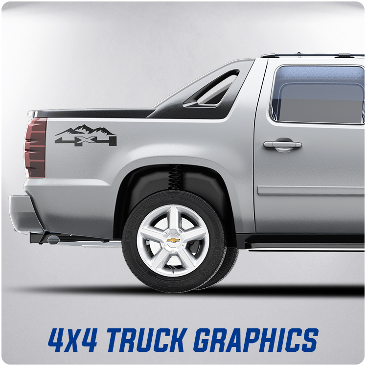 4x4 Decals | Pickup Truck Decals | 4 x 4 Offroad Decals |