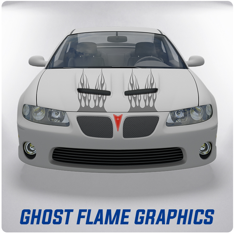 Ghost Flames Hood Graphics