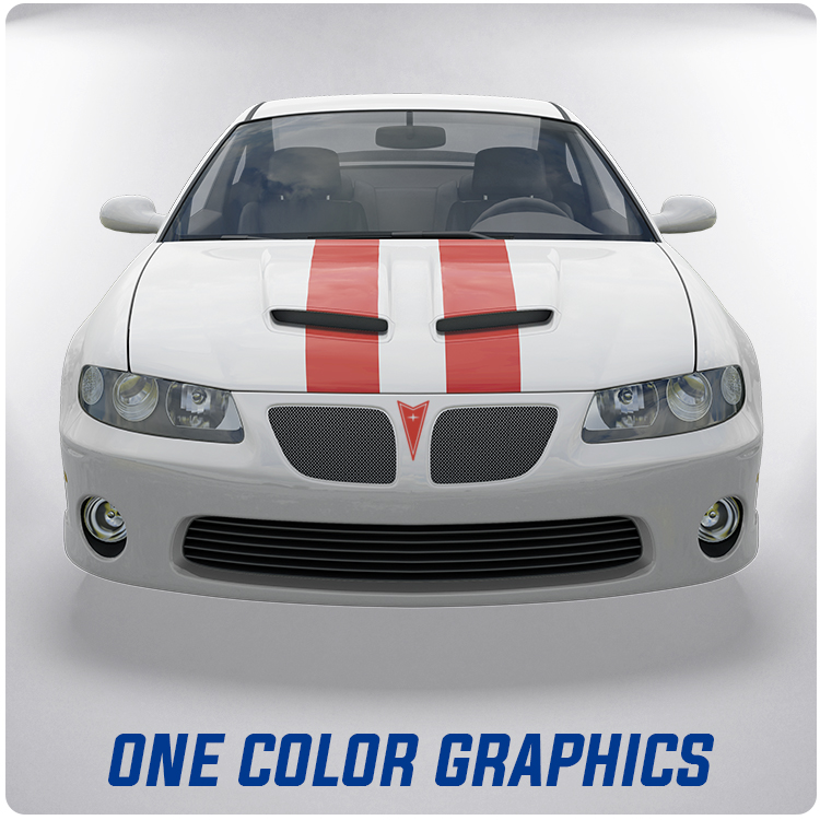 One Color Hood Graphics