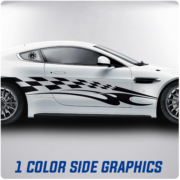 One Color Side Body Graphics