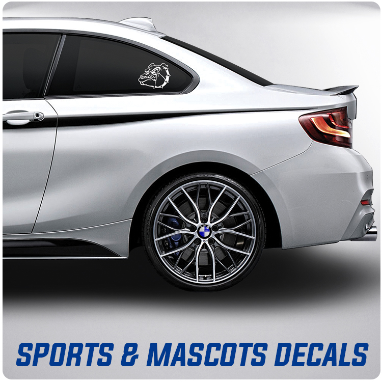 School Sports Spirit Mascots Decals