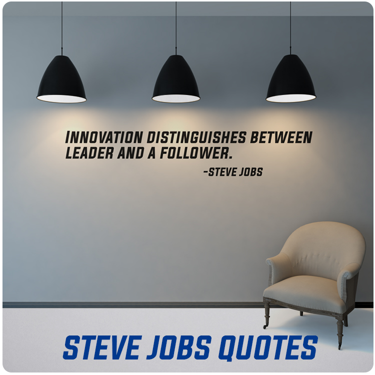 Steve Jobs Quotes Wall Decals