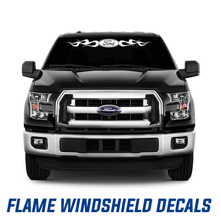 Flames Windshield Decals