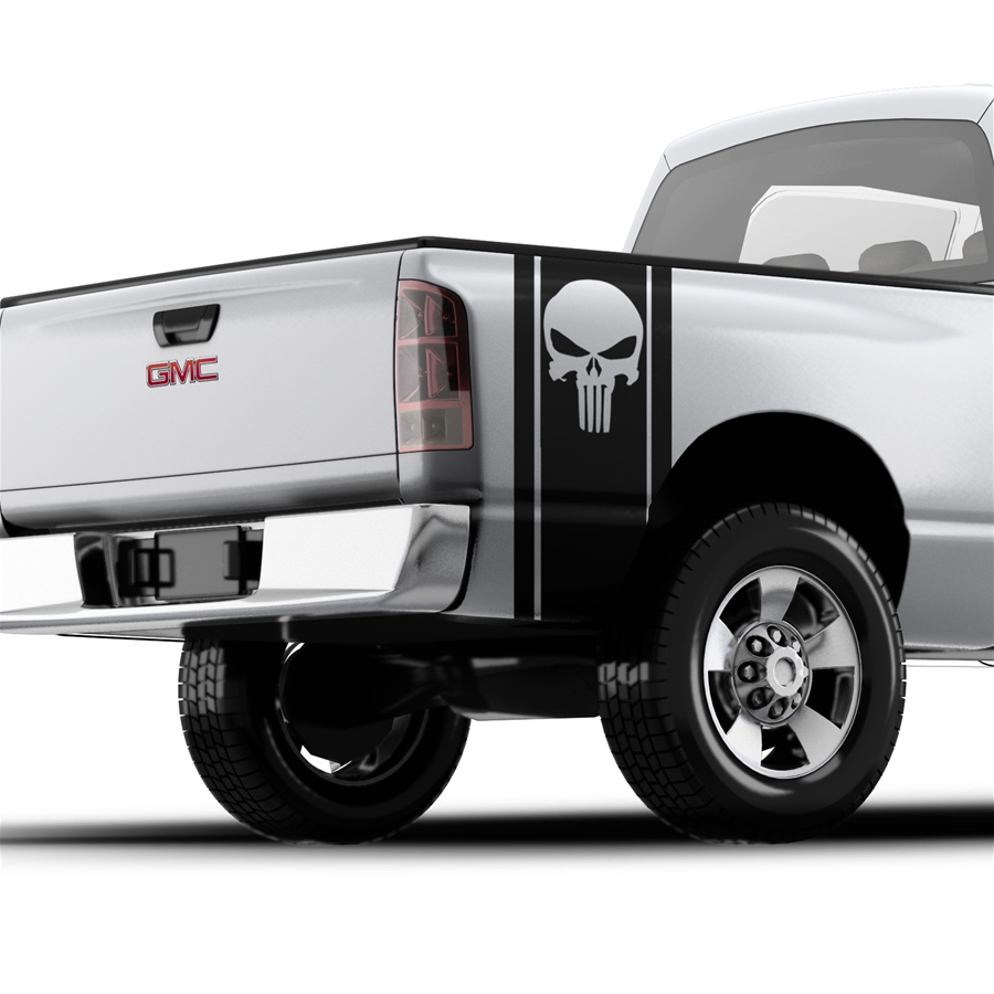The Punisher Skull - Pickup Truck Bed Band Decal