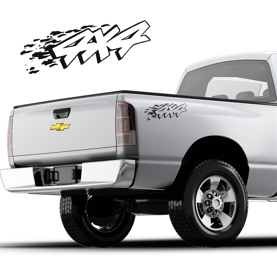 4x4 Decals Single Color DS-006