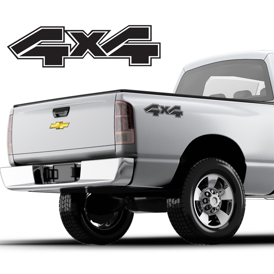 4x4 Decals Single Color DS-013