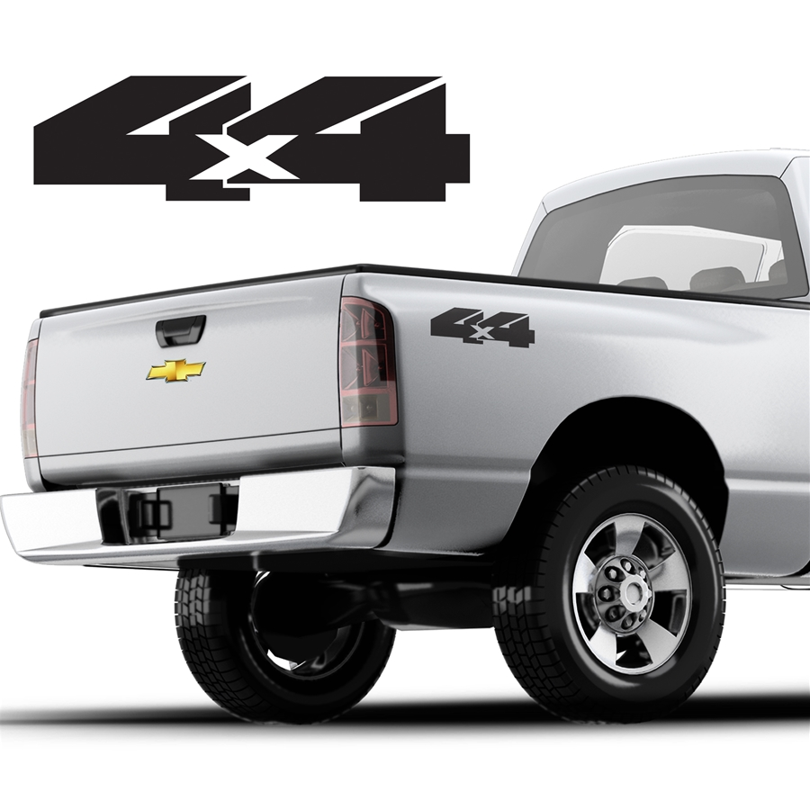 4x4 Decals Single Color DS-014