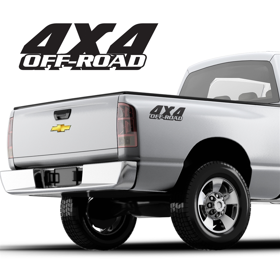 4x4 Decals Single Color DS-040