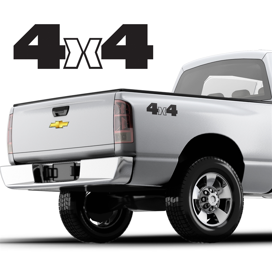 4x4 Decals Single Color DS-043