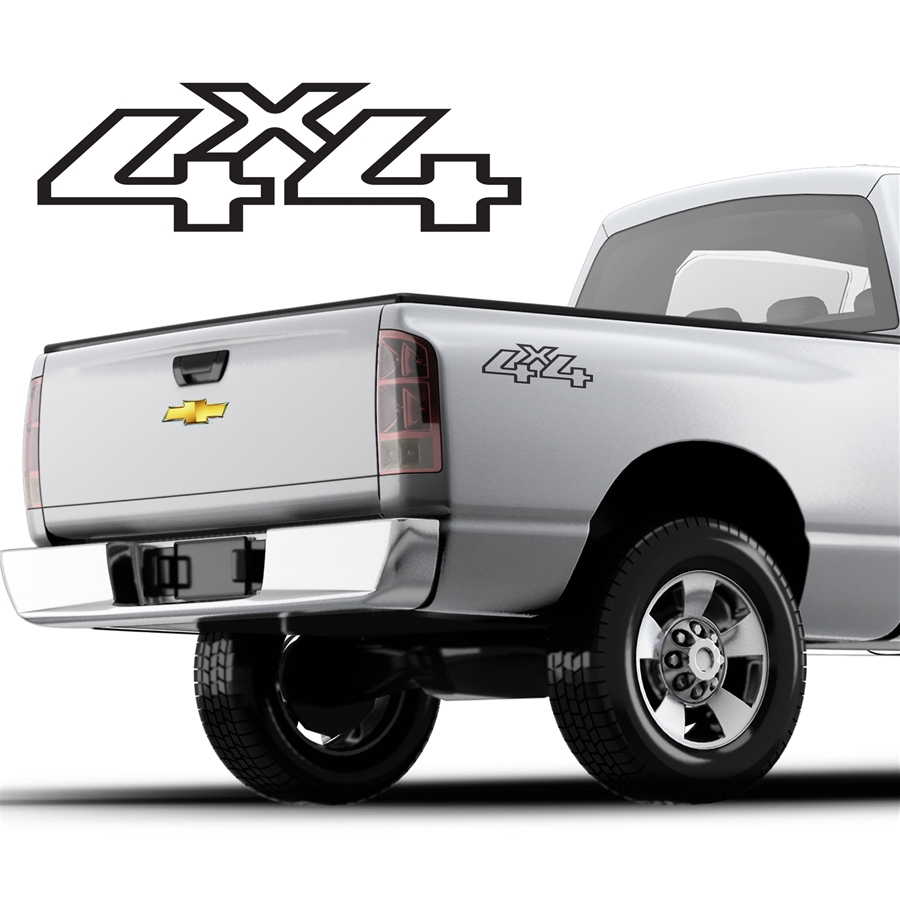 4x4 Decals Single Color DS-048