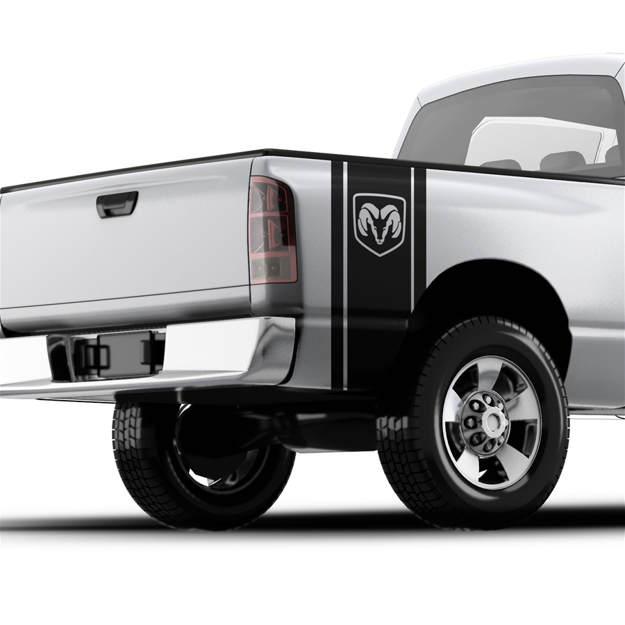 Dodge RAM Head Logo - Pickup Truck Bed Band Decal