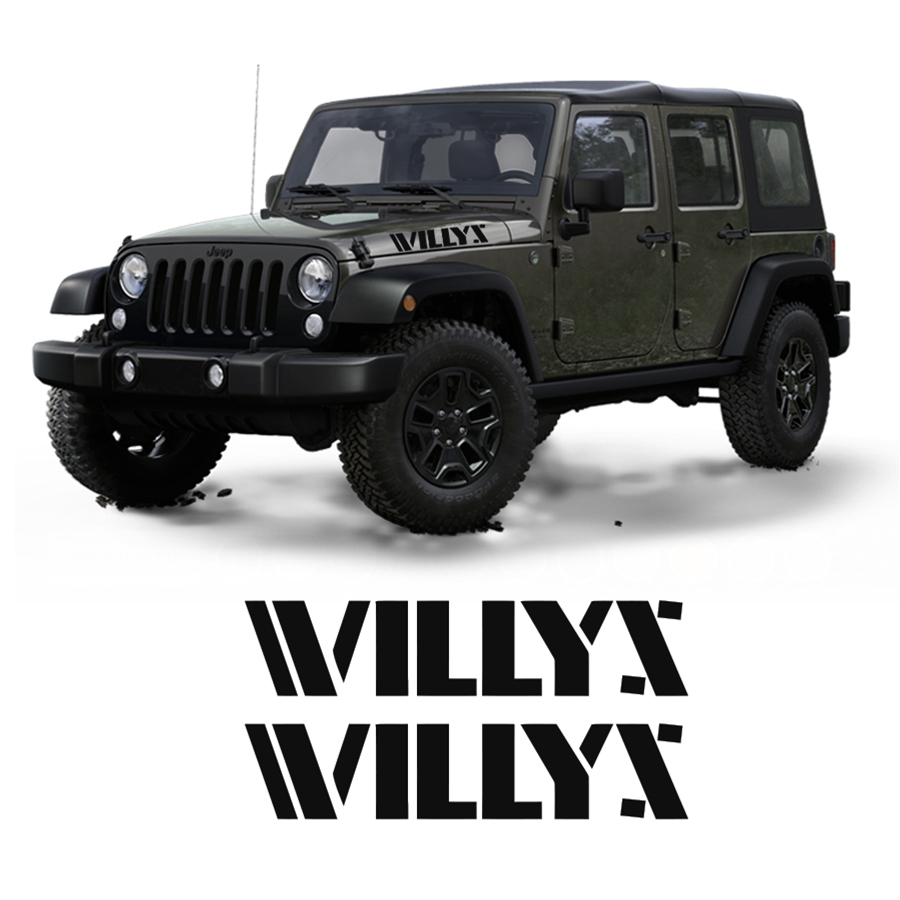 Jeep Willys Hood Retro Decal