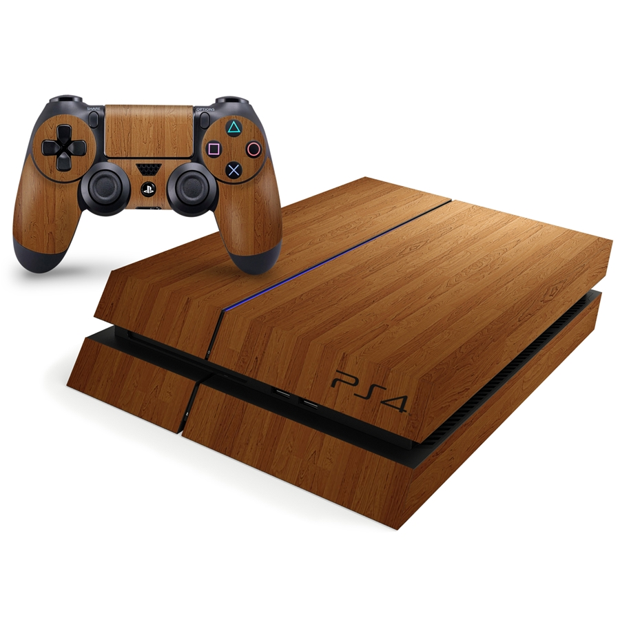 Playstation 4 Console Skin - Wood Laminate Pattern