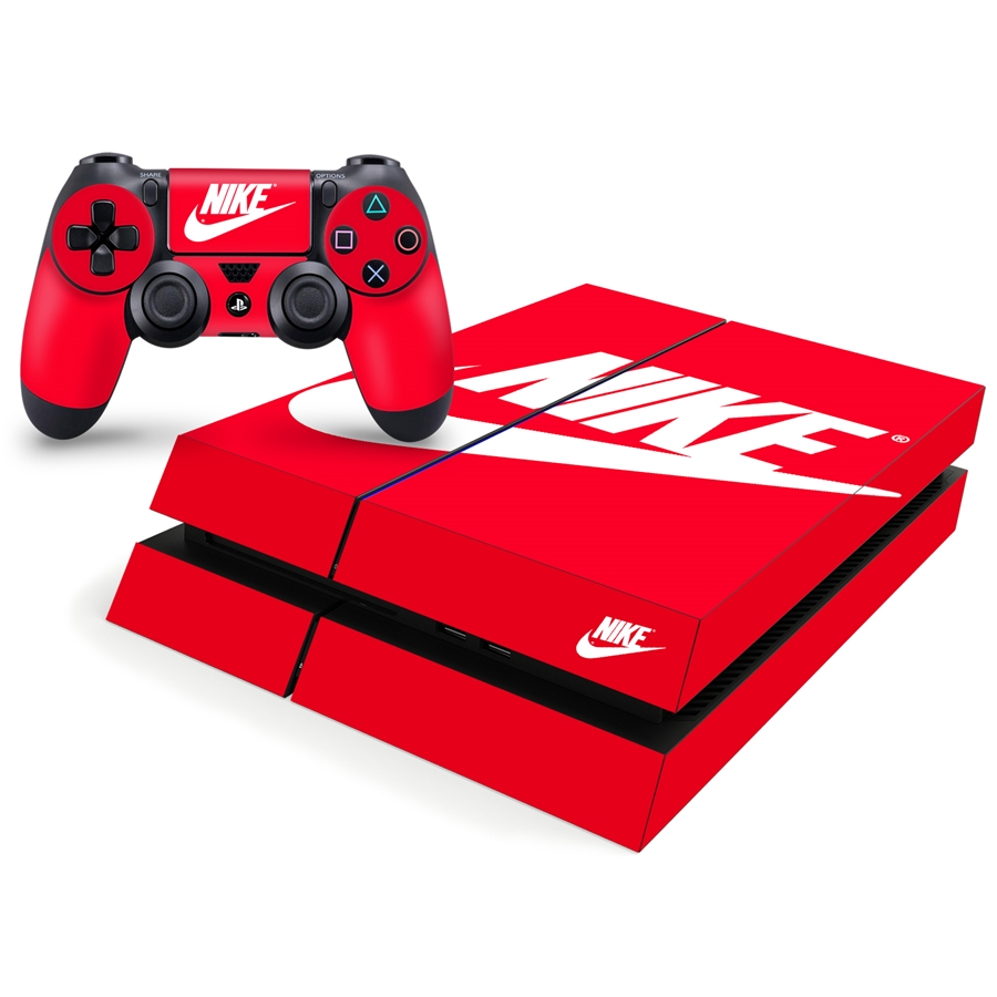 Playstation 4 Console Skin - Nike Shoe Box Red Decal