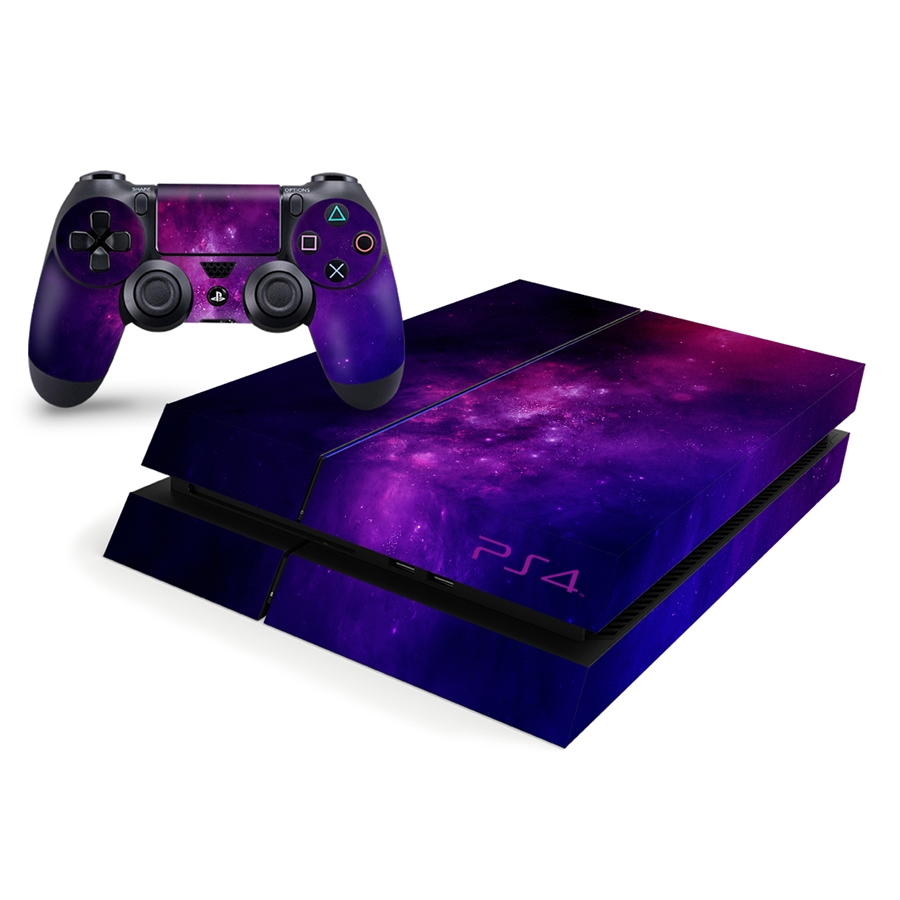 Playstation 4 Console Skin - Purple Galaxy Nebula