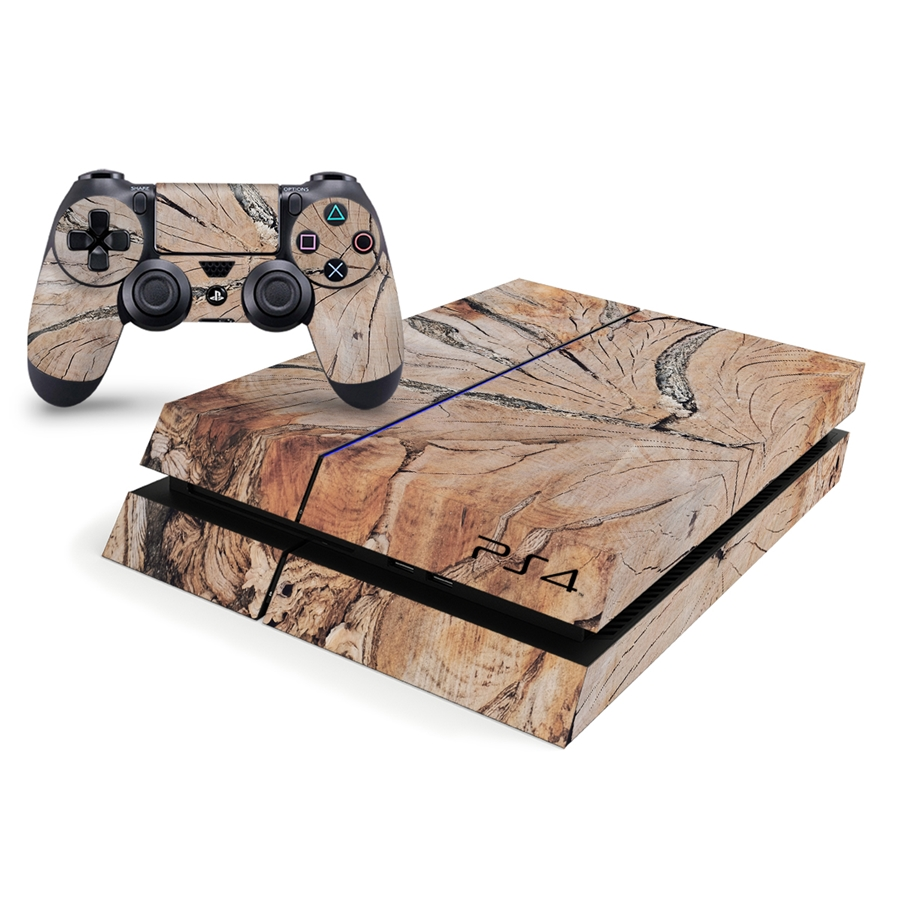 Playstation 4 Console Skin - Wooden Pattern 1