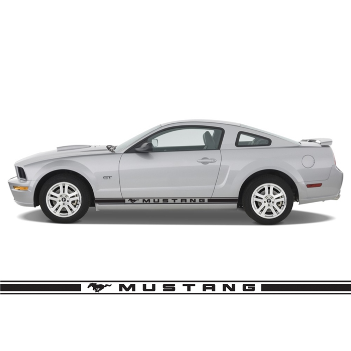 "Mustang Horse 3"" High Rocker Stripes RS002"