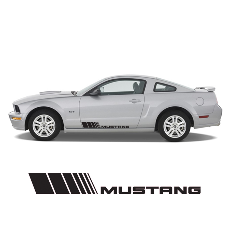 Vertical lined Mustang Rocker Stripe RS-001