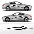 2 Sharp Point Car Sidebody Decal 3DG #1010