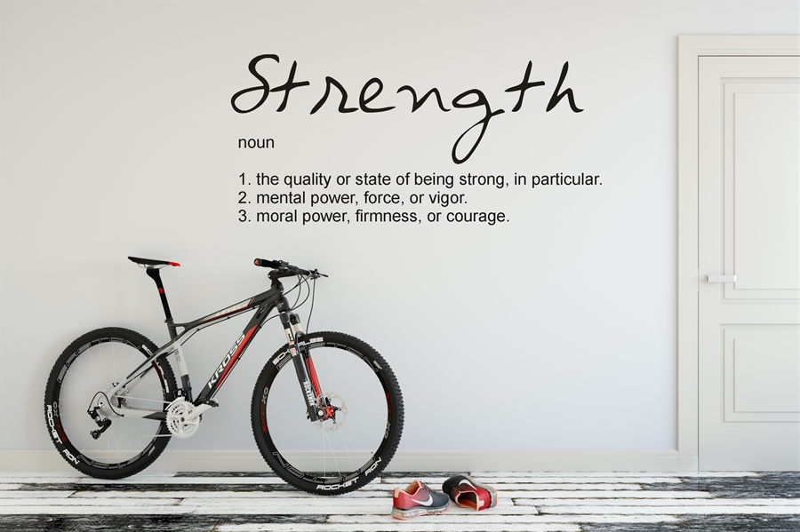 Strength - noun Definition Wall Decal