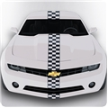 Racing Checkered Racing Stripe Kit