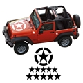 Invasion Star Decals for Military Army Jeep