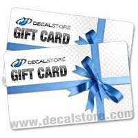 Decal Store Gift Cards. You pick the amount.