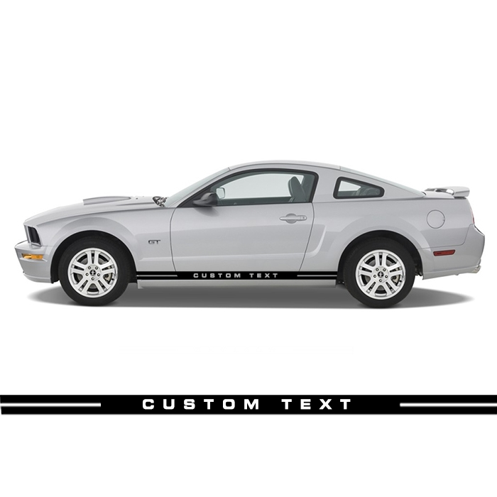 Custom text rocker stripe rs 003