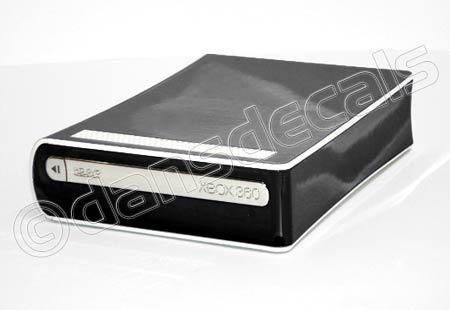 Black Chrome HD DVD Drive Skin for Xbox 360