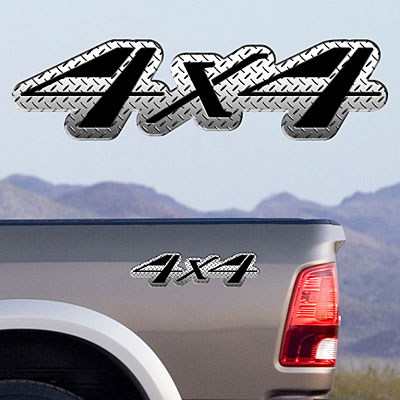 4x4 Color Full Color Decals TDG001 (Style 104, Red)