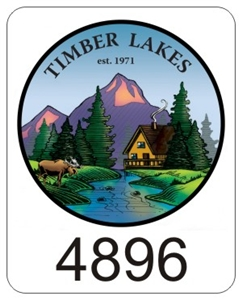 Timber Lakes Window Decals