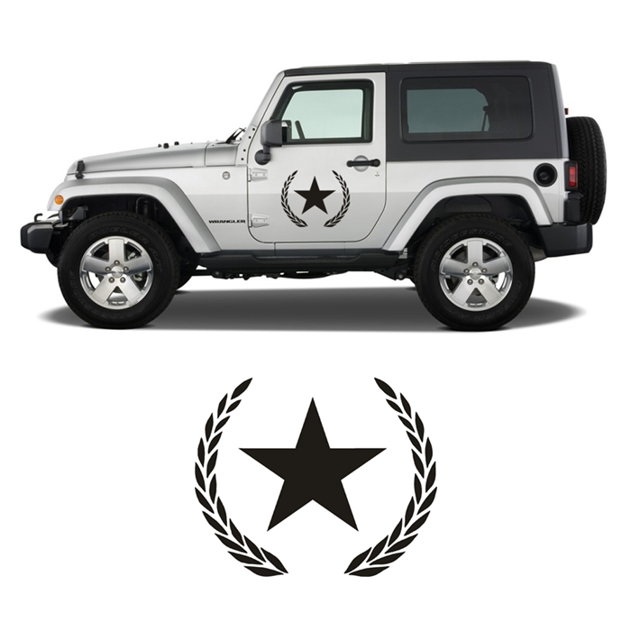 Pair of Jeep Stars with Crest