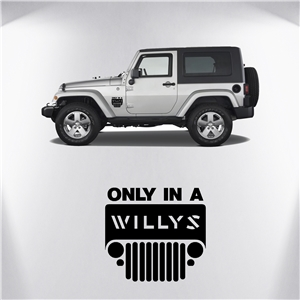 Only in a Willy's Retro Jeep Decal