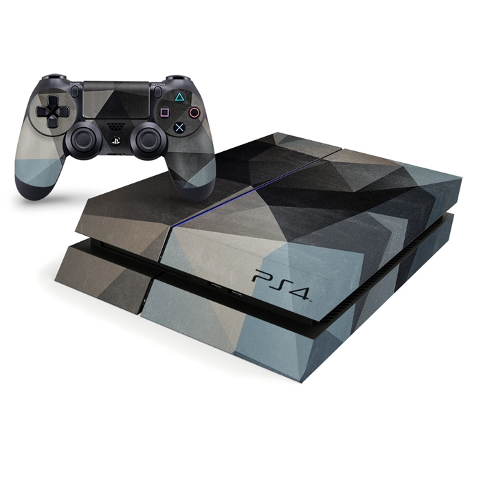 Playstation 4 Console Skin - Vintage 3D Triangles