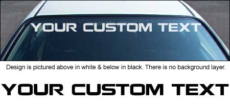 Nokian Font Windshield Decal with Custom Text