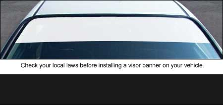Banner Blank Windshield Visor Strips