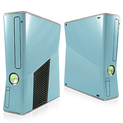 Cool Blue Xbox 360 Slim Skin